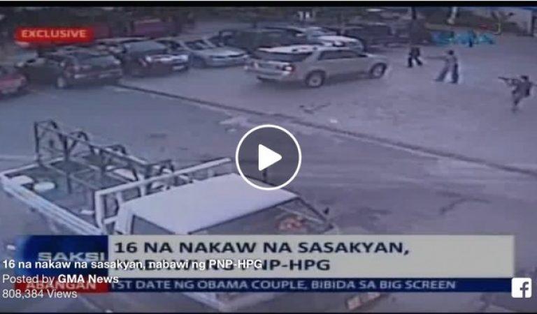 16 na Nakaw na Sasakyan ang Nabawi ng PNP-HPG