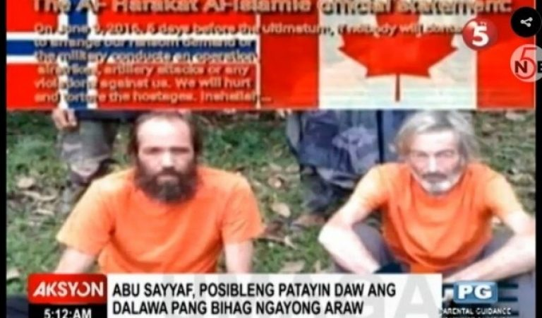2 remaining Abu Sayaff hostages may be killed today, June 17!