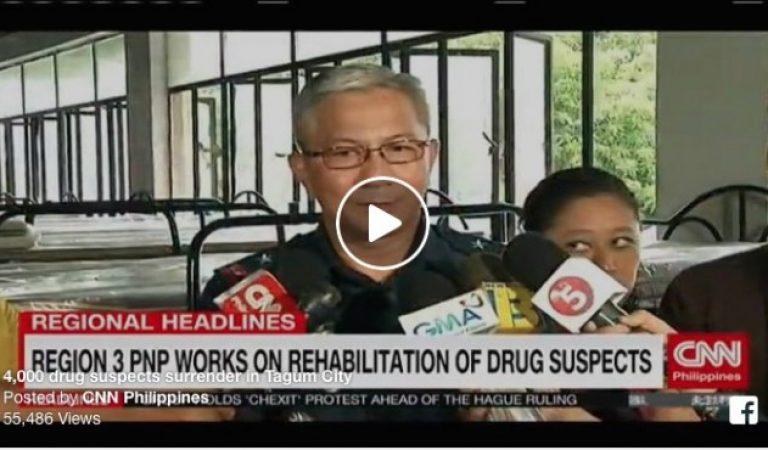 4,000 Drug Suspects Surrender in Tagum City