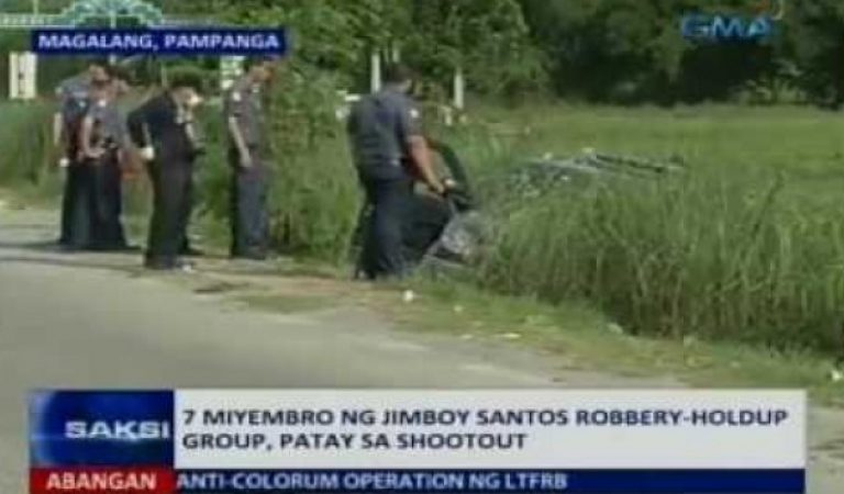 7 Suspected Members of a Robbery-Holdup Group killed in Pampanga