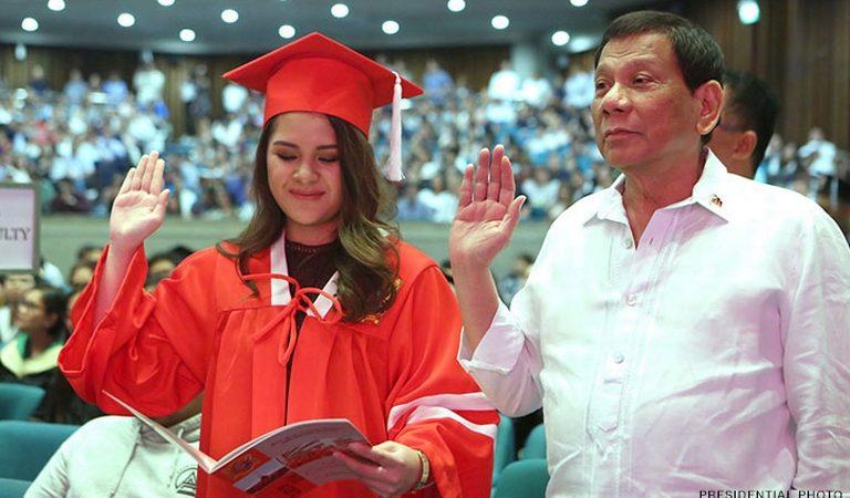 Duterte attends granddaughter Isabelle's graduation