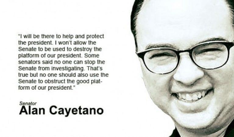Alan Cayetano invokes a striking statement!