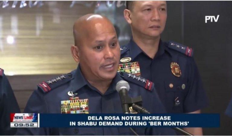 Dela Rosa notes increase in shabu demand during 'ber' months