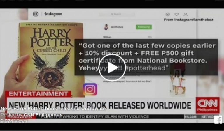 Discounts in New 'Harry Potter' book in the Philippines