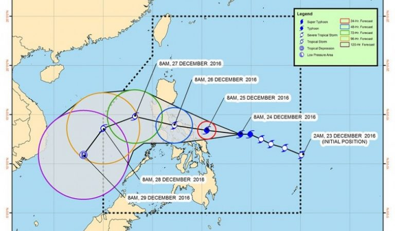 DOST Pagasa: Typhoon #NinaPH continue to move in a west northwest direction