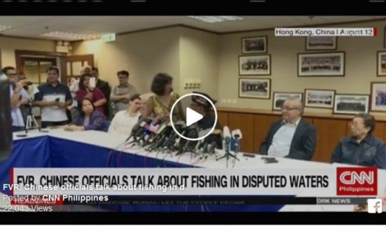 Former President Ramos talked with Chinese officials about fishing in disputed waters