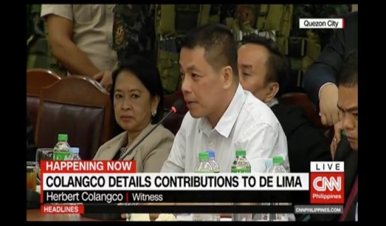 Herbert Colangco: 'Sen. De Lima was NOT contented with the ₱3 million contributions!'