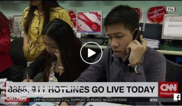 Philippines 8888 and 911 Hotlines goes Live!