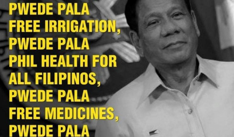 President Duterte, Pwede naman Pala! #PwedePala