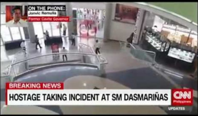 Raw Footage of the hostage taking incident in SM Dasmariñas