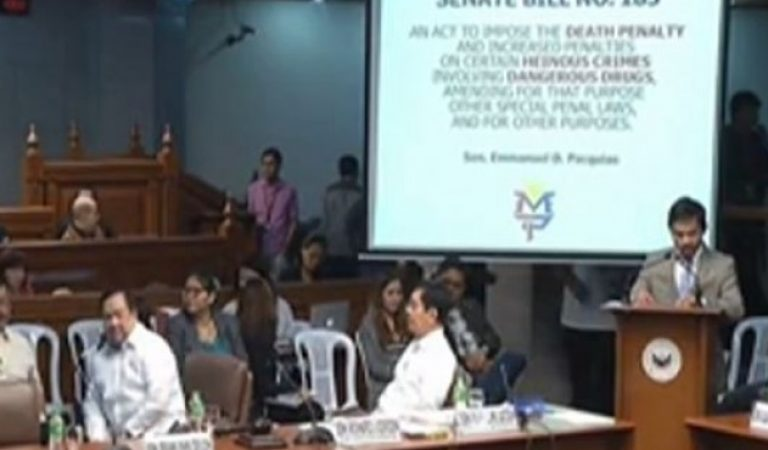Sen. Manny Pacquiao pushes for death penalty for certain crimes
