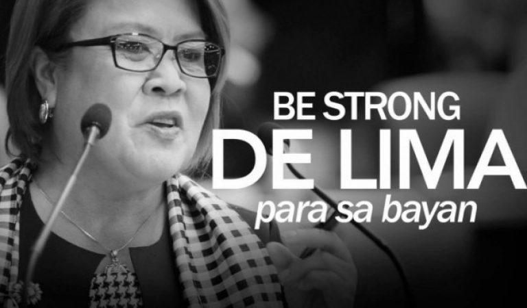 Senator De Lima #BeStrong photo got thousands of negative comments