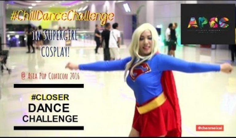 Supergirl Cosplayer Does #ChillDanceChallenge #CloserDanceChallenge