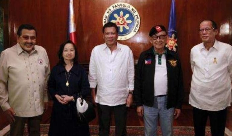 United as one, Former Presidents of the Philippines with President Rodrigo Duterte