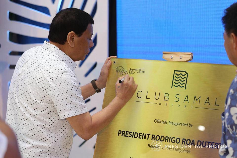 Pres  Duterte at the Club Samal Resorts Inauguration [IN PHOTOS