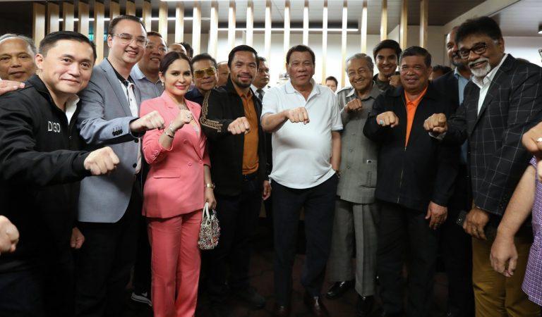 Pres. Duterte at Sen. Pacquiao's WBA Welterweight Match [IN PHOTOS]