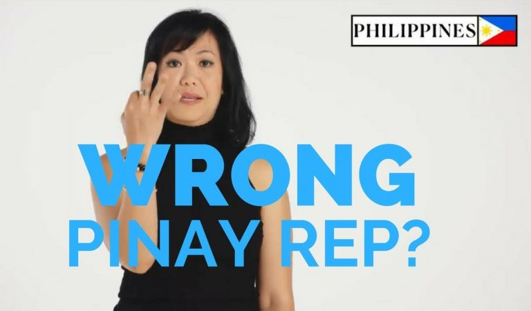 Wrong Pinay Rep?