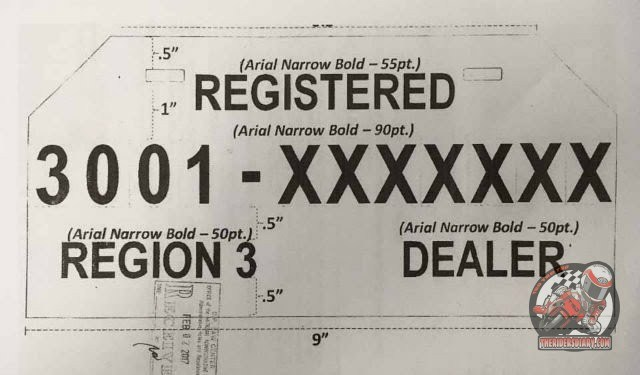 picture regarding Printable Temporary License Plate Template named Short term Plate Quantity for Bike - Trending.ph