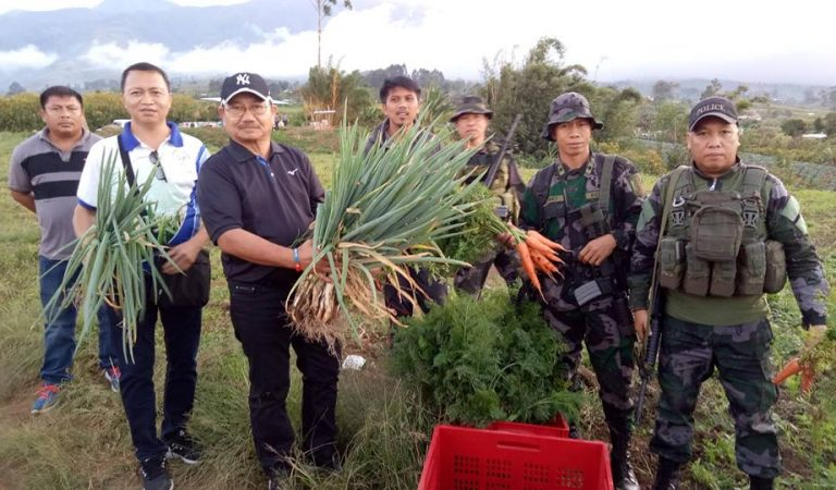 In Talakag onion is free, Carrots sell for P20/kilo