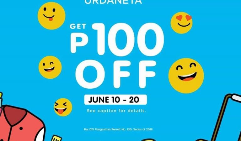 Get P100 OFF at The SM Store Urdaneta