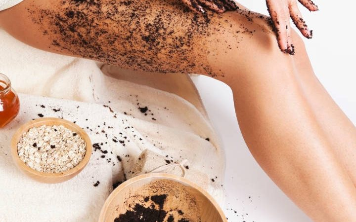 Roasted Ground Coffee as Beauty Scrub
