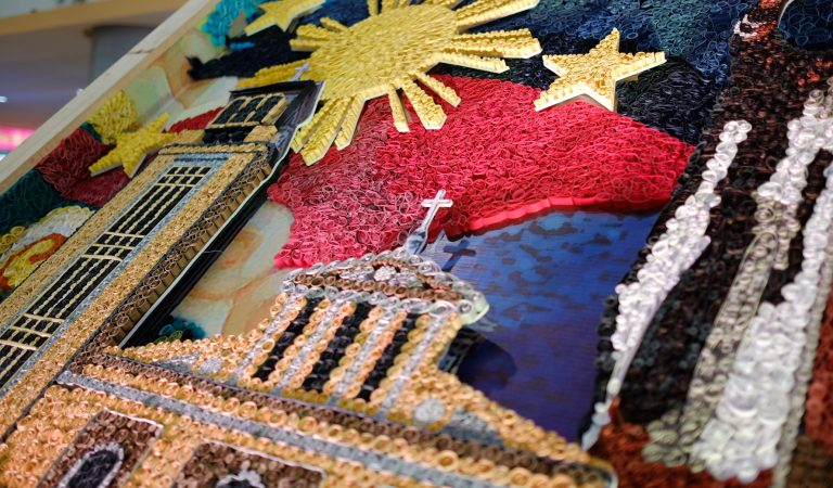 Paper Quill Mosaic Feat. Philippine Flag and Pangasinan's Tourist Attractions