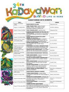 Kadayawan sa Davao Schedule 2019