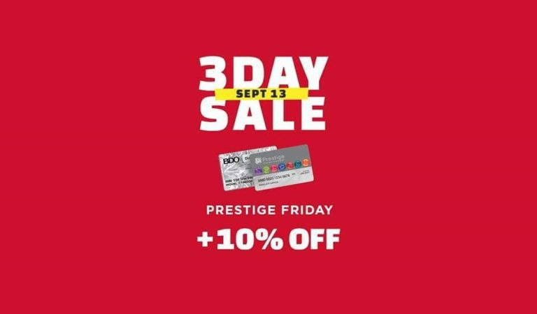 SM City Rosales 3-Day Sale Prestige Friday: September 13