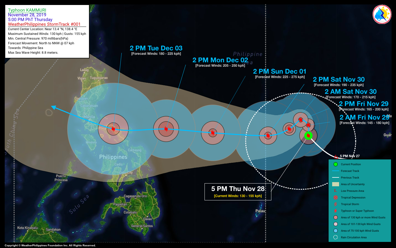Typhoon Kammuri is Coming; PAGASA Warns