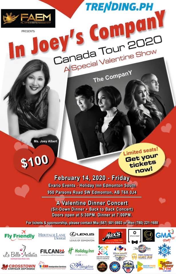 In Joey's CompanY Concert 2020 Live in Edmonton