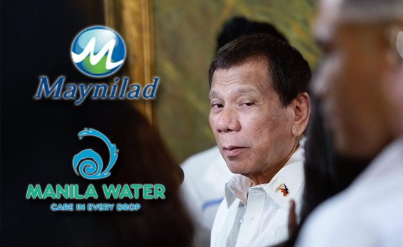 Pres. Duterte: Sign the New Water Contracts or Go to Jail
