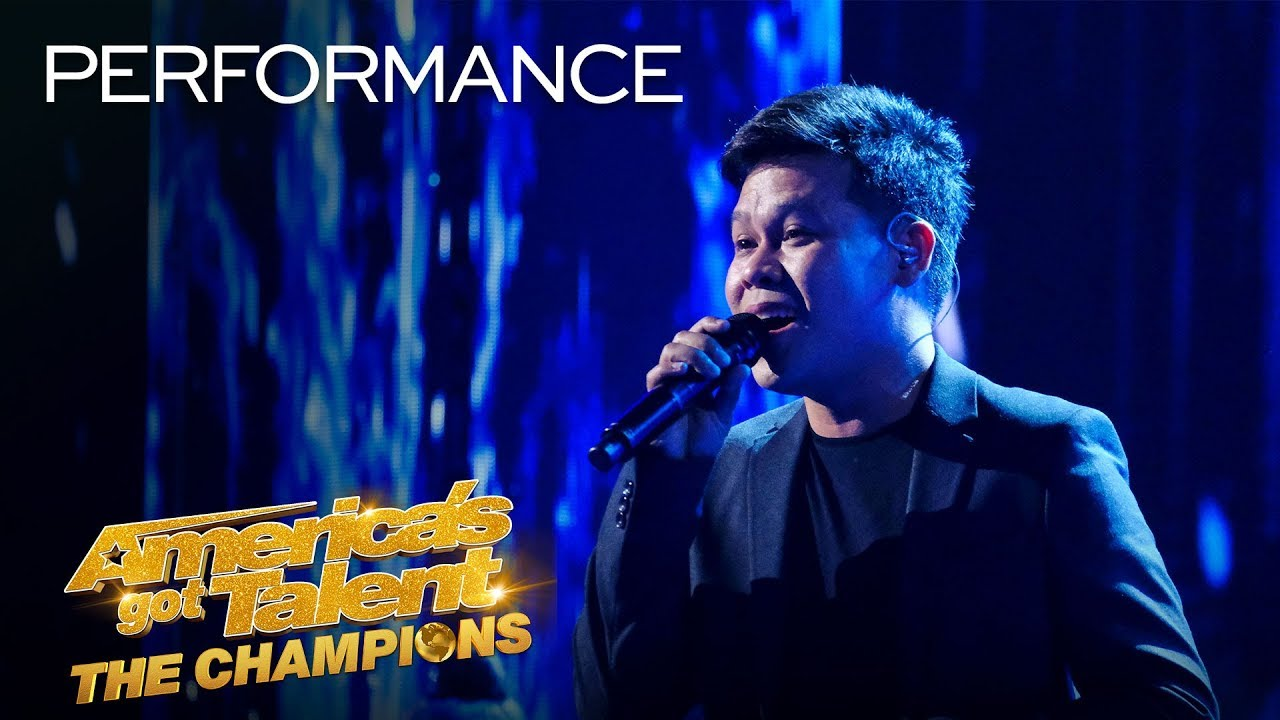 Marcelito Pomoy wows the Judges of the America's Got Talent: The Champions 2020