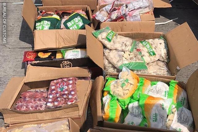 Photo: untvweb.com/news/boc-seizes-p3-5m-worth-of-smuggled-pork-meat-products-from-china/
