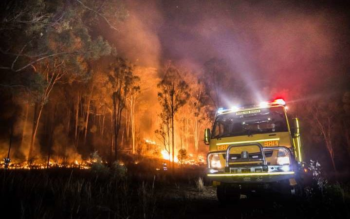 Forest Fire Still Raging in Tublay, Benguet, Mountain Province (Luzon)