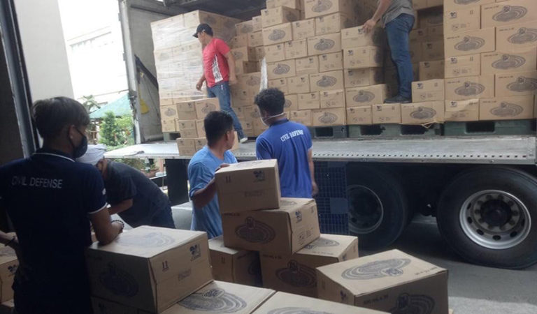 Office of Civil Defense Leads Distribution of Bottled Water