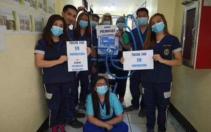 SM基金会向北吕宋医院捐赠个人防护设备